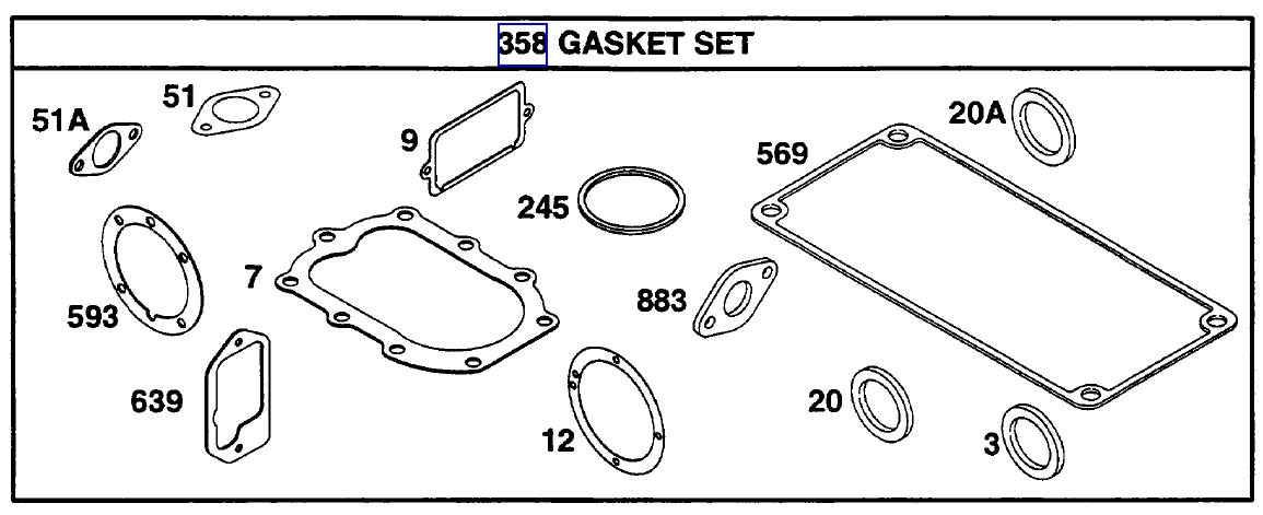 Briggs Stratton Gasket Set Part No. 291728
