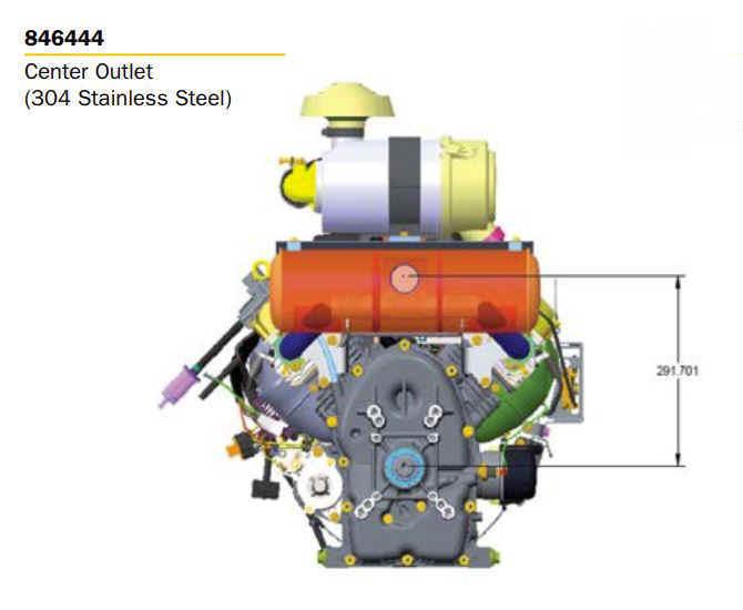 Briggs Stratton Muffler Kit Part No. 846444