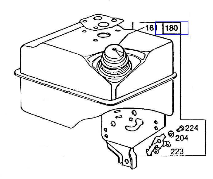 Briggs Stratton Fuel Tank Part No 494610