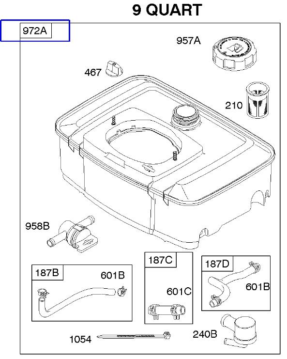 Briggs Stratton Fuel Tank Part No 845137