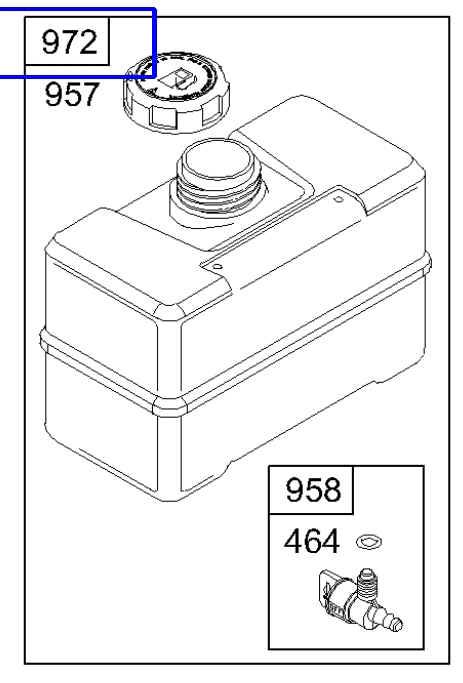 Briggs Stratton Fuel Tank Part No 691993