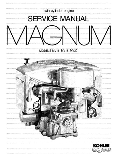 Kohler Service Manual TP-2289-A For MV16-20 Engines