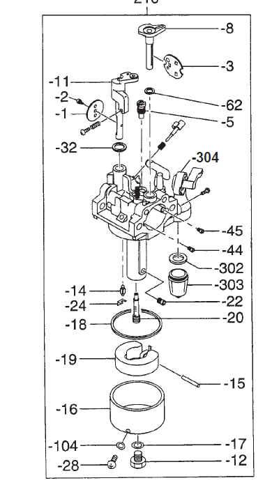 Robin Carburetor Part No. 278-62304-40