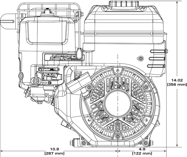 Small Engine Surplus 130G52-0182 Briggs & Stratton 6:1