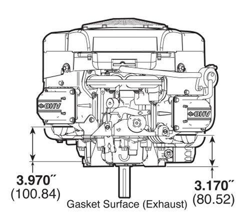 Briggs and Stratton 445577-1511 23HP Mower Engine 23 hp 1