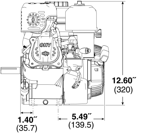 Small Engine Surplus 83132-1036 Briggs & Stratton 127cc