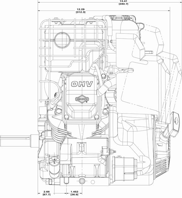 Small Engine Surplus 19J137-0008 Briggs & Stratton 1450