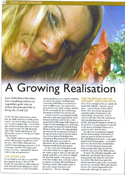 Home Farmer Magazine Article