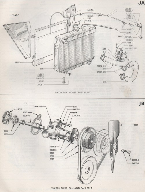 small resolution of ford 170 engine diagram wiring diagram for you 170 radiator hoses and water pump consul corsair