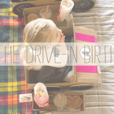 kids, birthday, drive in, car, diy
