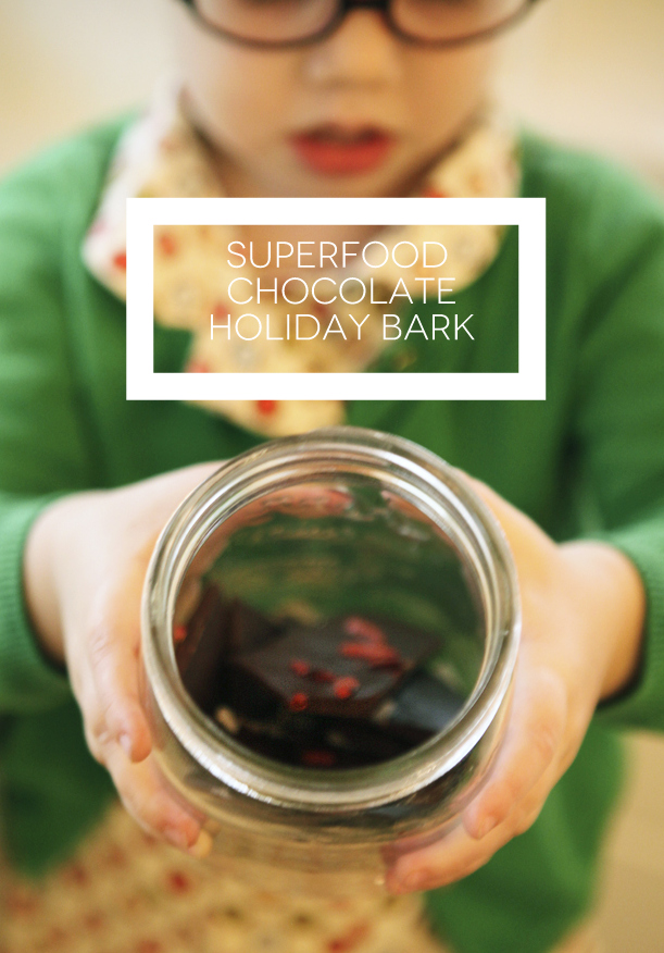 Superfood Chocolate Holiday Bark