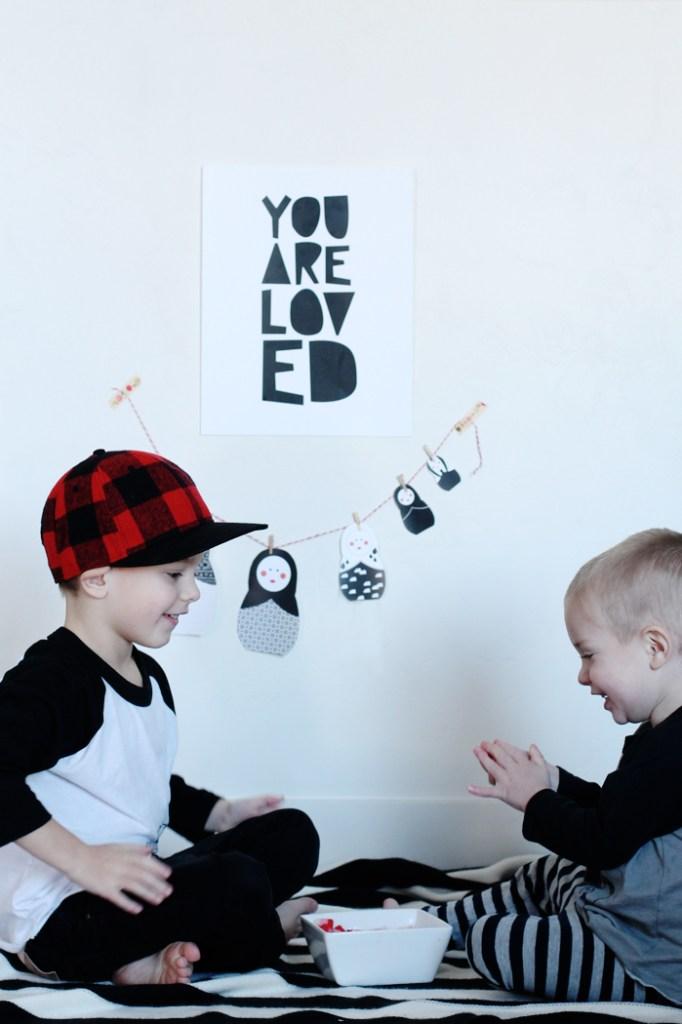 babushka valentine's printables