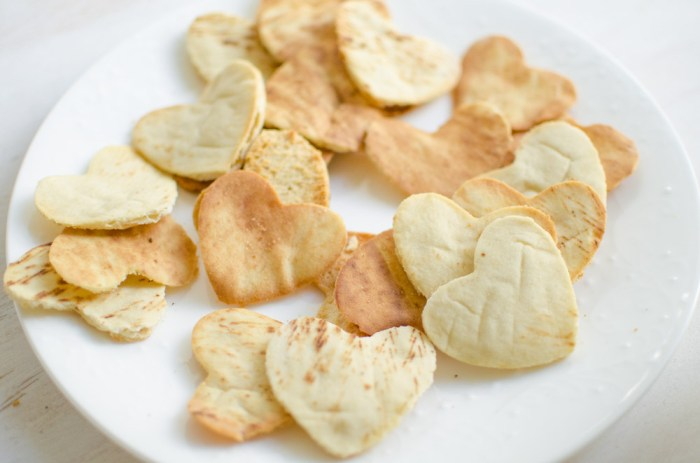 Heart Shaped Pita Chips Recipe