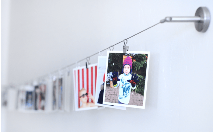 Instagram Picture Wall on Ikea Curtain System