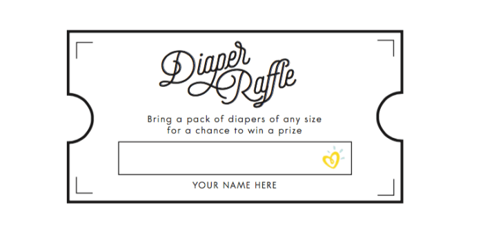 Trust image regarding diaper raffle tickets printable