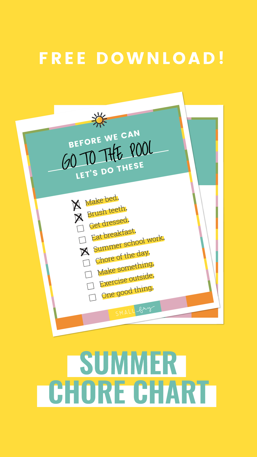 Summer Morning Routine Printable