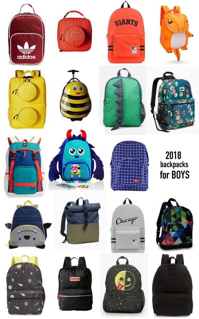 2018 Best of Back Packs BOYS