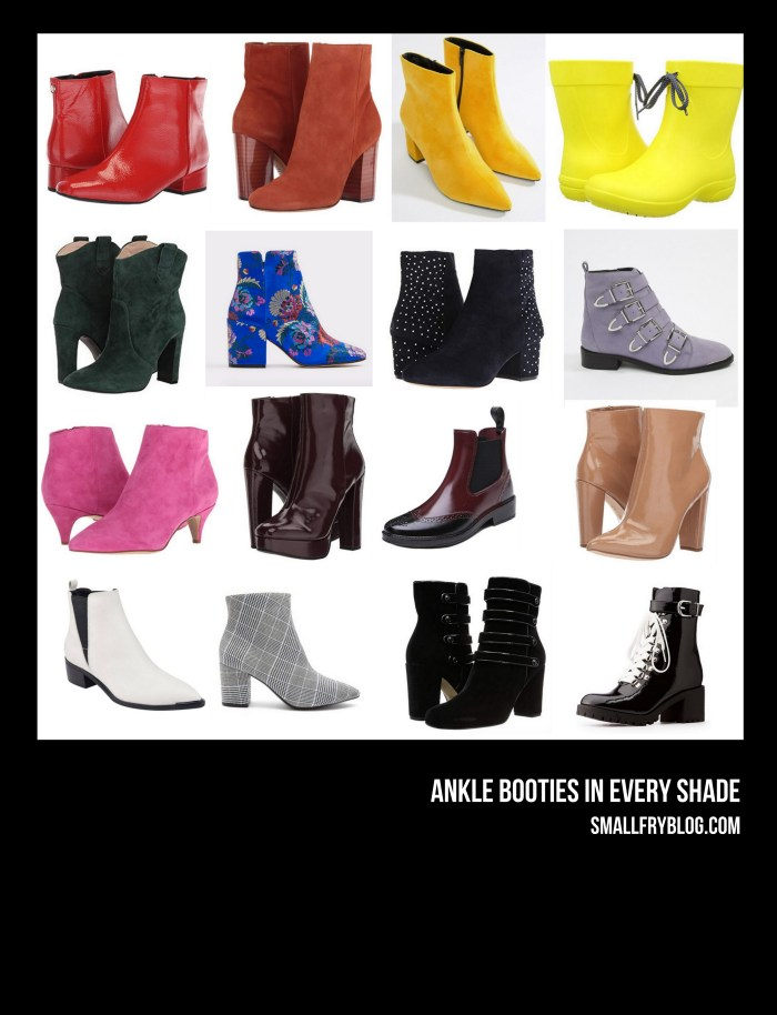 ankle booties in every shade