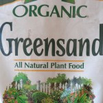 Greensand is a good sources of potassium for organic gardens.