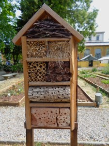 Insect hotel seen in Florence, Italy, in 2017.