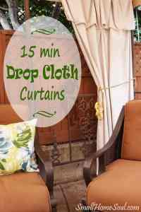 Drop Cloth Curtains - My Patio Refresh Part 3 - Small Home ...
