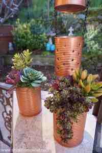 Recycled Tin Can Lantern & Planter - Reduce & Reuse Decor ...