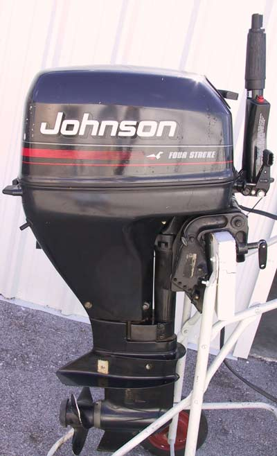 Used Evinrude Johnson 15 hp 4 Stroke Outboard For Sale