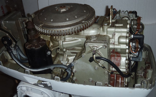 Small Deck Diagram 50 Hp Johnson Electric Shift Outboard For Sale