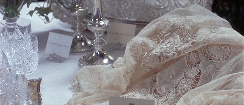 (above) The exquisite old lace was Ellen Olenska's gift.