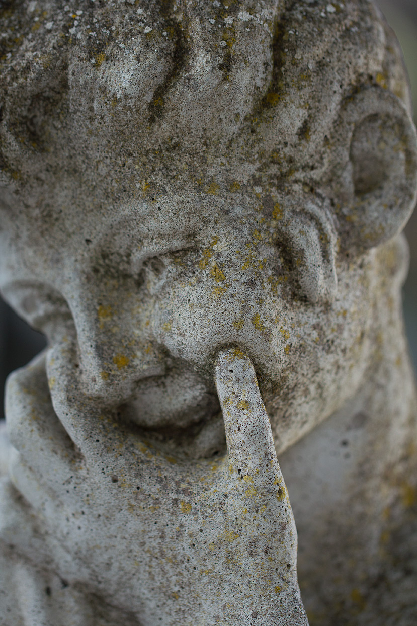 A detail of my cast stone statuette shot with my new macro lens.