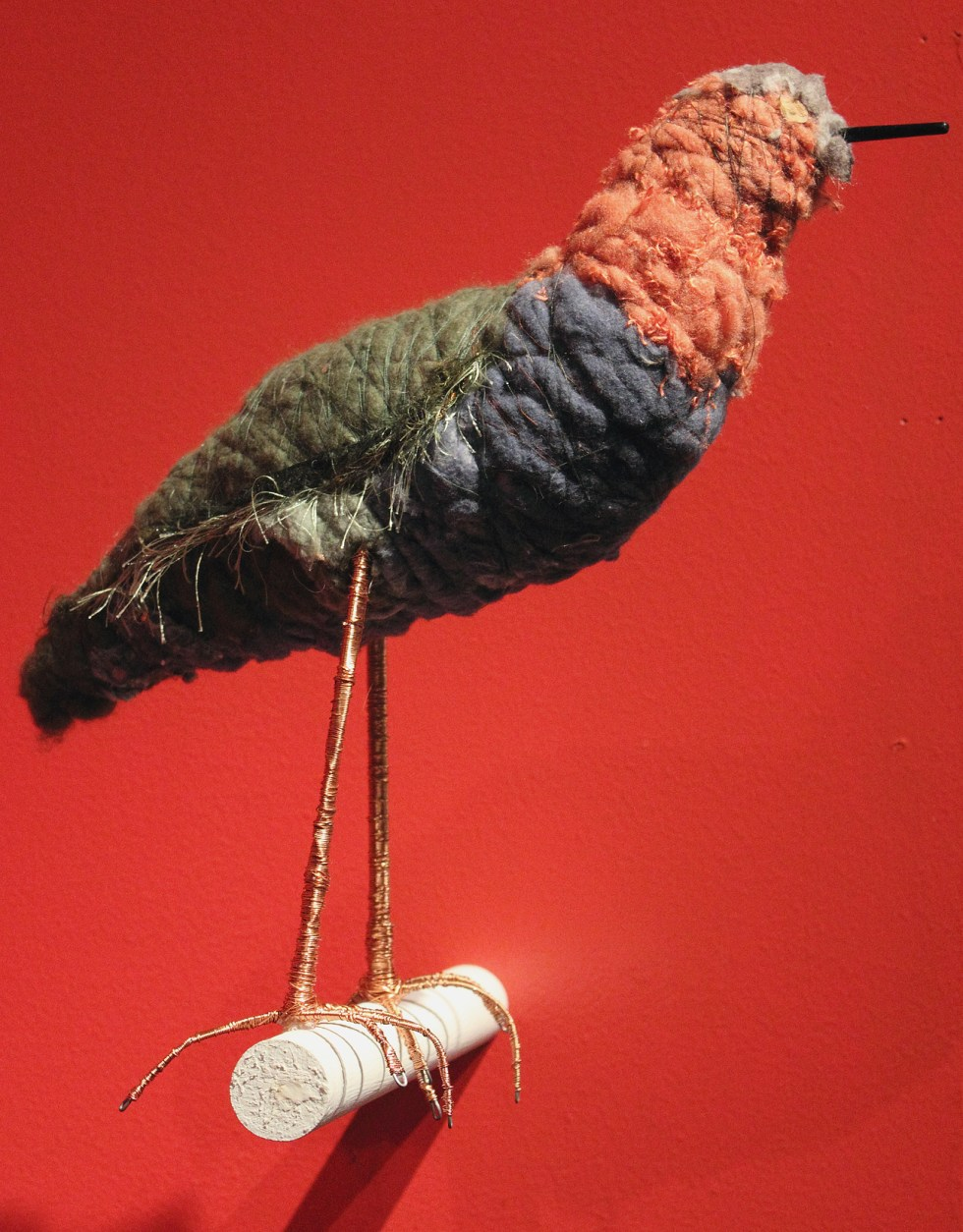 (above) 'Green Heron,' 2010, mixed media and recycled materials