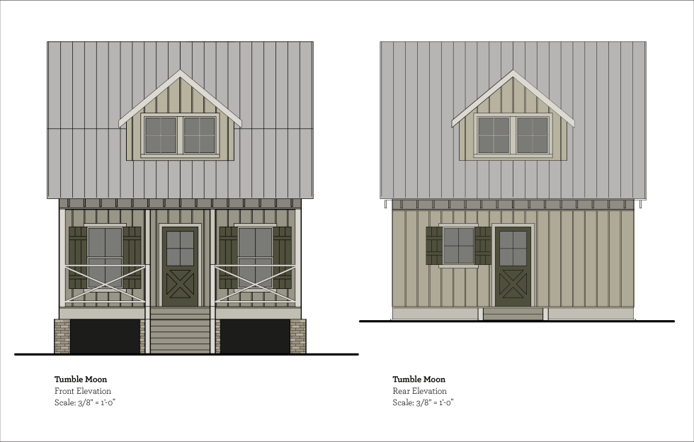 No paint colors have been picked for the house, but I felt these drawings could use some pizzazz. I do know what color it won't be, white. The color pallet will come from the natural elements on the property, twigs, bark, leaves, and stone.