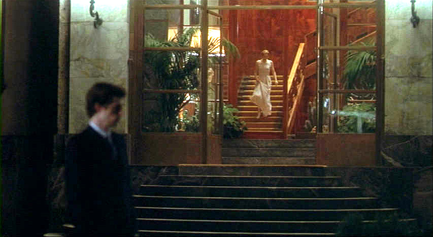 (above) This film still is a night time shot of the entrance.