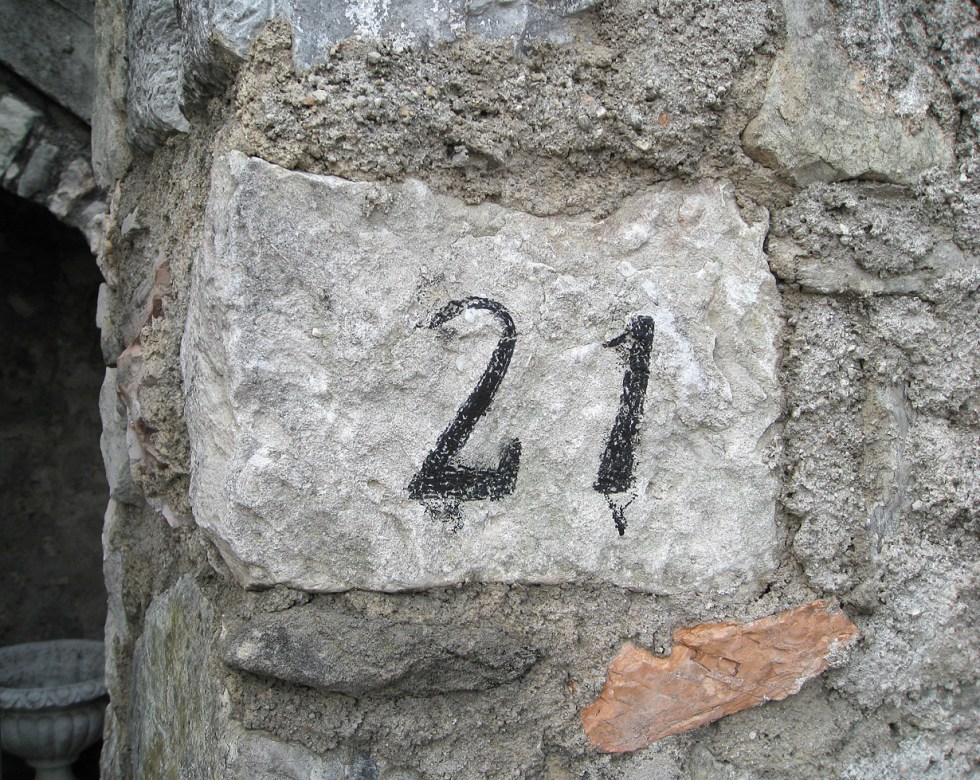 (above) Here's an example of a very classy and beautifully executed DIY street address.