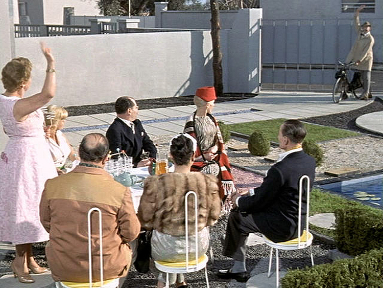 (above) It's a garden party with some uptight chairs.