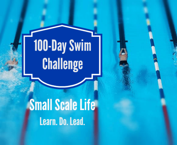 100-Day Swim Challenge - Swimmer and Pool
