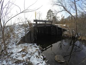 Burlington Lake Bridge in Burnett County, Wisconsin