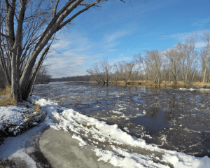 Junction of the St. Croix River and Yellow River in Danbury Wisconsin