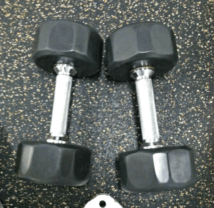 Dumbbells at the gym YMCA