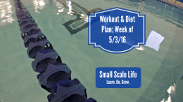 Workout Plan; Diet Plan; Weekly Plan; Spin Class; Swimming; Weightlifting; Elliptical Trainer