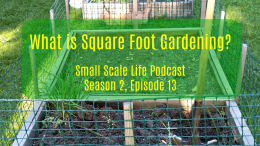 Square Foot Gardening; Garden; Minimalism; Moving; Podcast; Weeds
