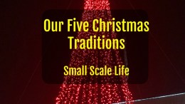 Christmas Traditions, family, friends, history, traditions, Christmas tree, Small Scale Life, podcast