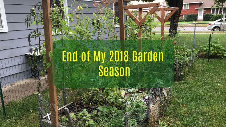 First Frost: End of My 2018 Garden Season - Small Scale Life