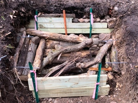In a hole? Stop Digging! 5 Lessons Learned from Our Stair Project Failure; Homesteading; Mindset; Shoring, Baffles and Hugel Mounds