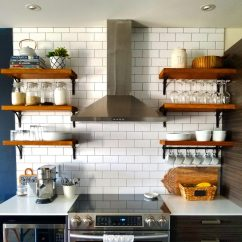 Kitchen Shelves Ideas Chandelier Lighting Open Shelving How To Build And Mount