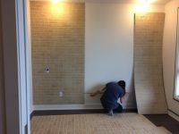 DIY: How to make a faux brick wall with textured panels