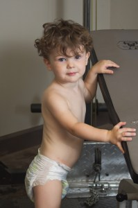 Toddler in diapers Gordon