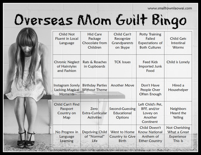 Overseas Mom Guilt Bingo