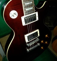 epiphone les paul junior bolt neck electric guitar this could use some detailed cleaning but [ 1224 x 1632 Pixel ]