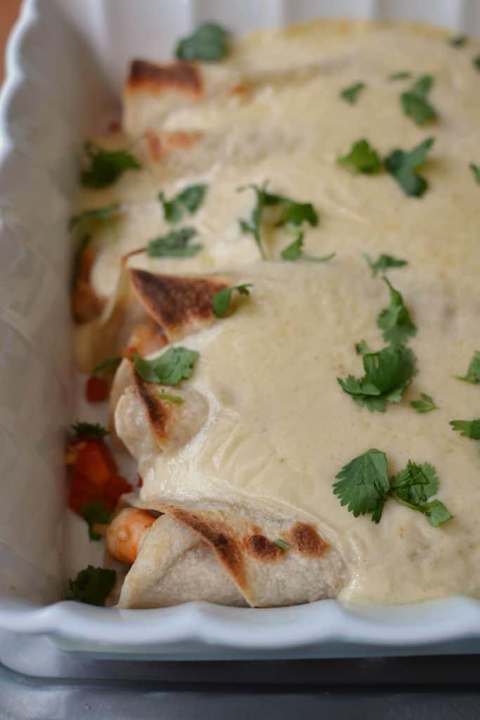 Easy Creamy Shrimp Enchiladas